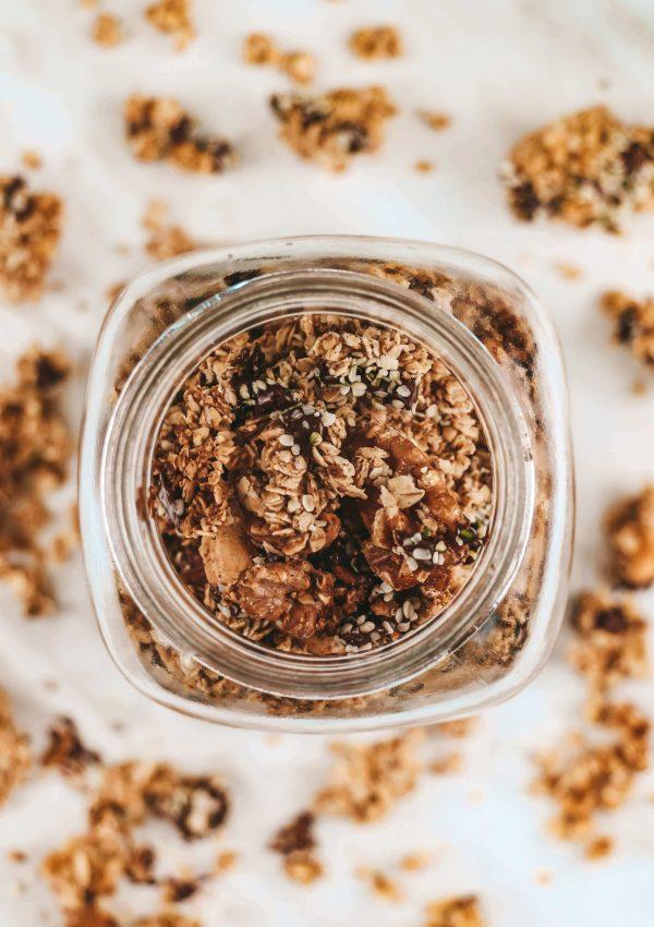 The Best Sugar-Free, Vegan, Healthy Sweet Granola