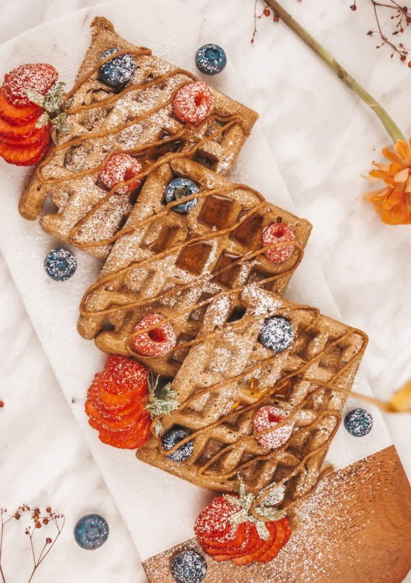 French Vanilla Hazelnut Coffee-Flavoured Waffles | Conscious Christa