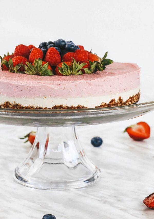 Raw Vegan Pink Pitaya Cheesecake | Conscious Christa