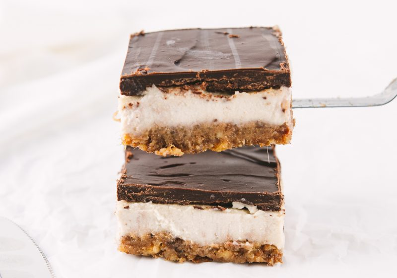 Gooey Maca Cheesecake Bars