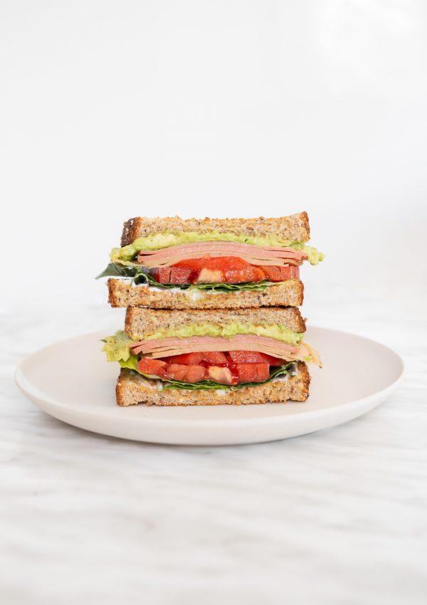vegan ham sandwich
