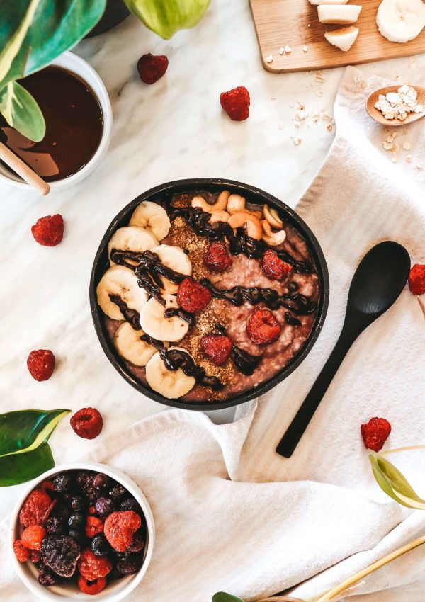 5 Minute Pink Oatmeal Bowl