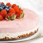 Raw Vegan Pink Pitaya Cheesecake