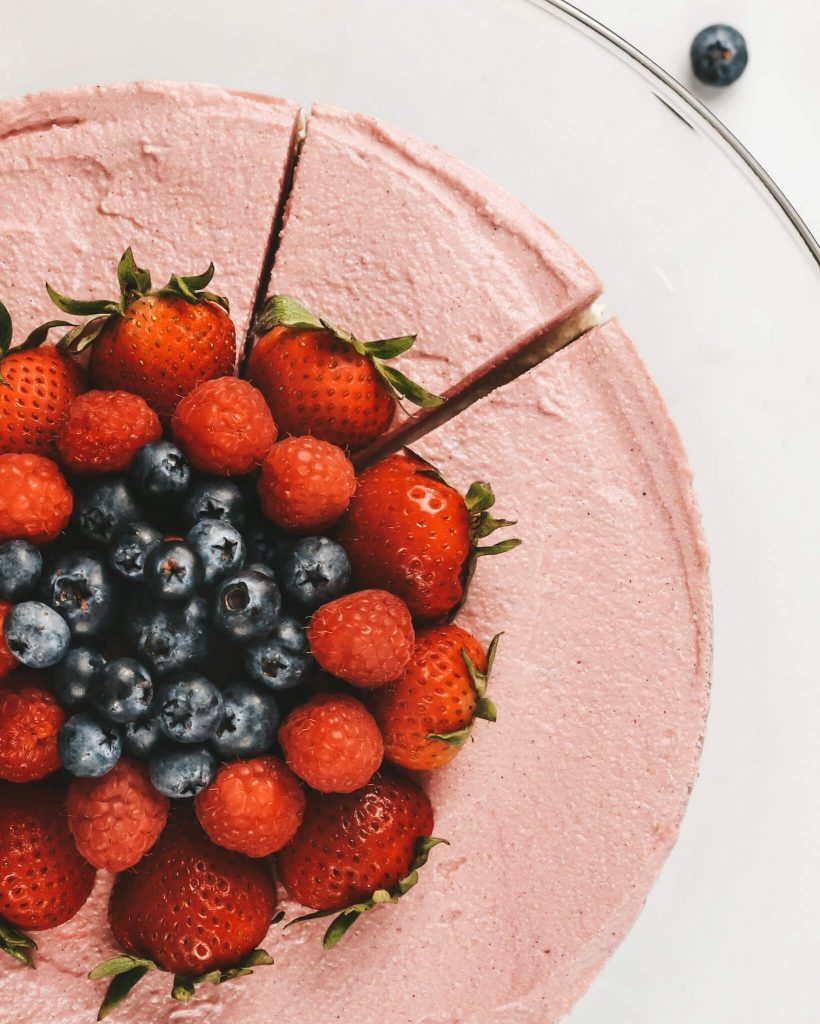 Raw Pink Vegan Cheesecake