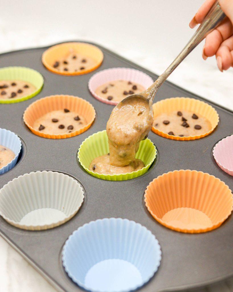 Cake Mix Banana Chocolate Chip Muffins   Conscious Christa