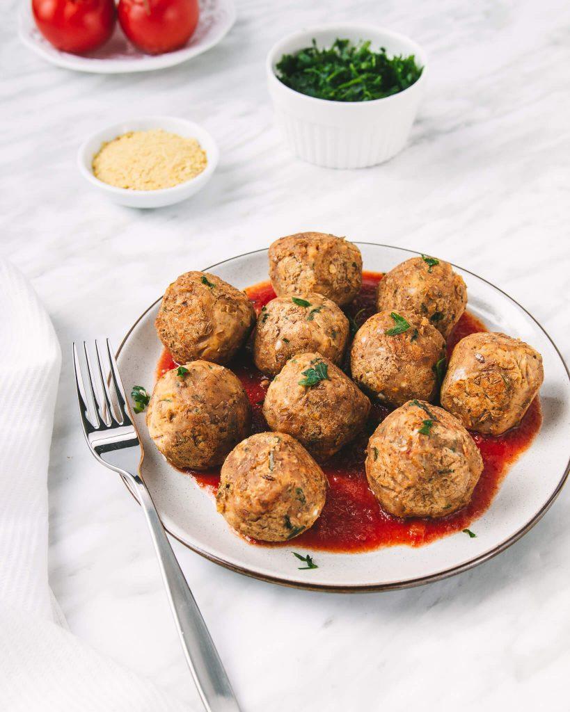 gluten free vegan lentil meatballs