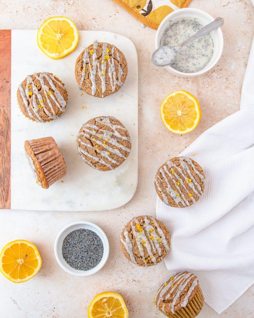 green banana flour muffins vegan