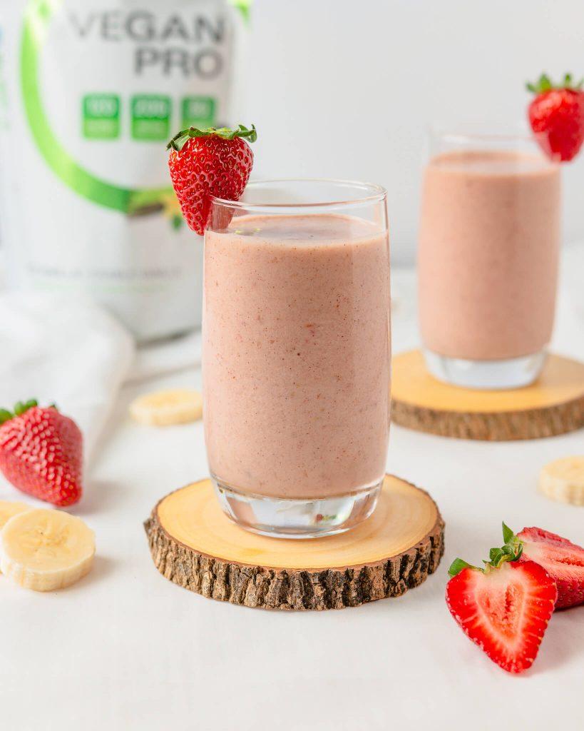 Vegan Strawberry Shortcake Smoothie
