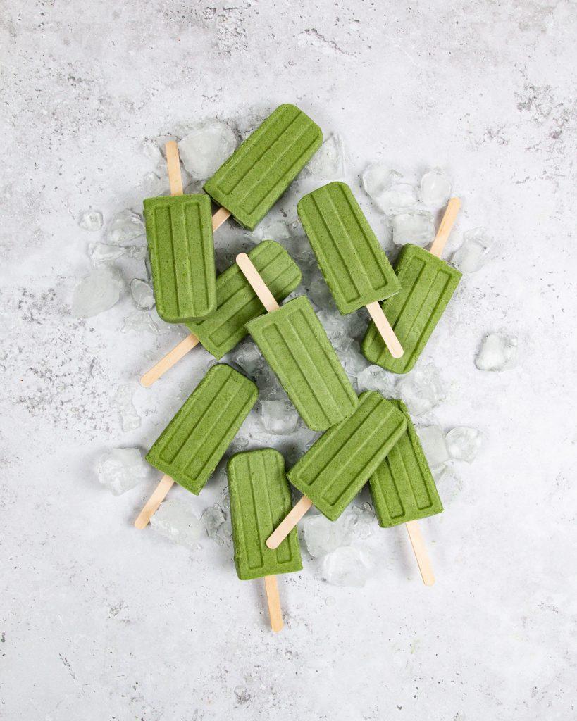 Greens Powder Popsicles Dishing Up Plants