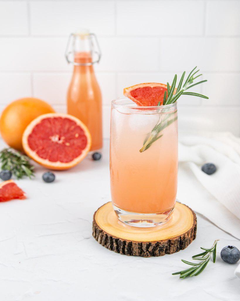 grapefruit iced tea with bcaa