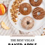 Baked Vegan Apple Cinnamon Donuts