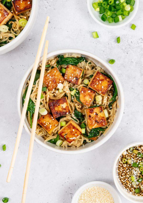 Sesame Maple Tofu Noodles