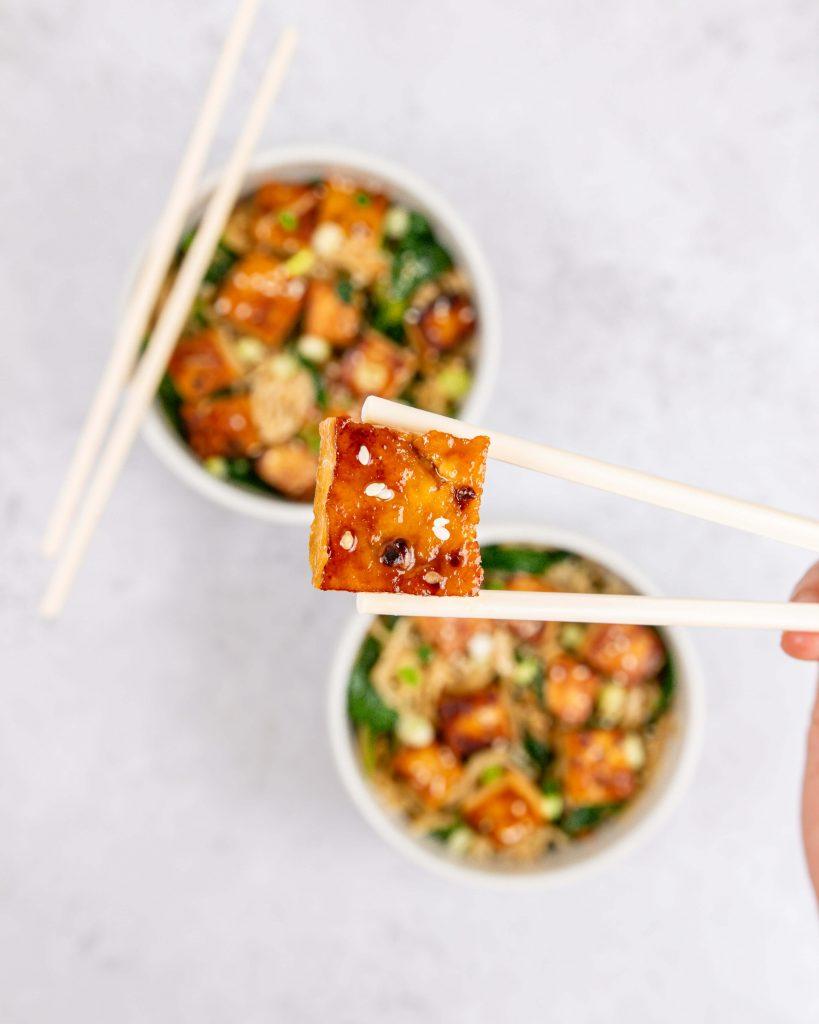 Maple Tofu Noodles