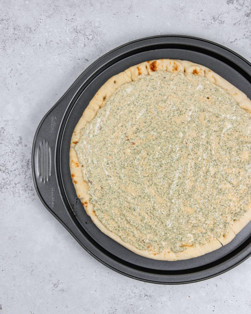 vegan buffalo cauliflower pizza