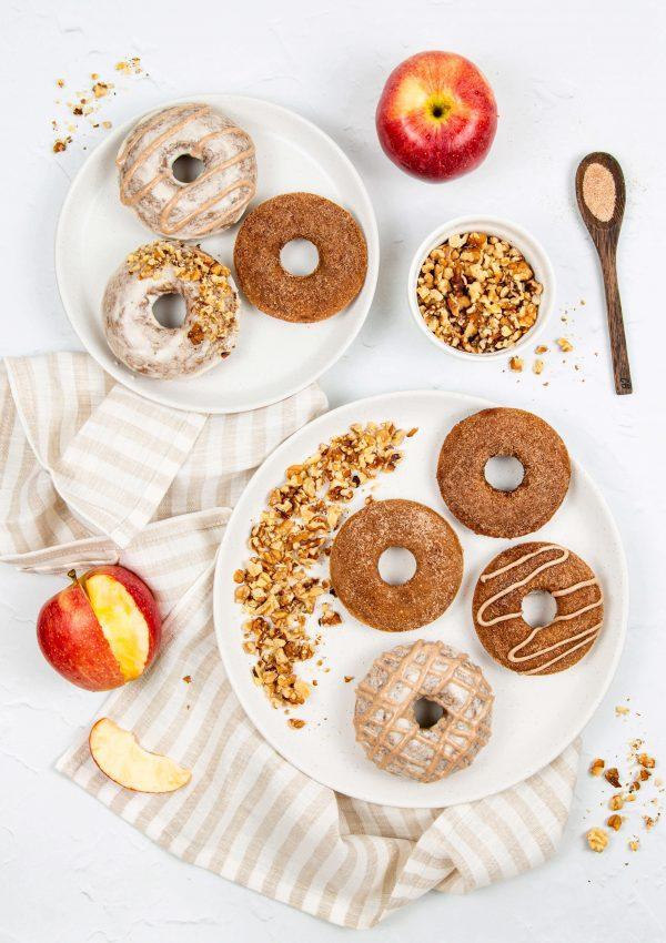Vegan Soft-Baked Apple Cinnamon Donuts