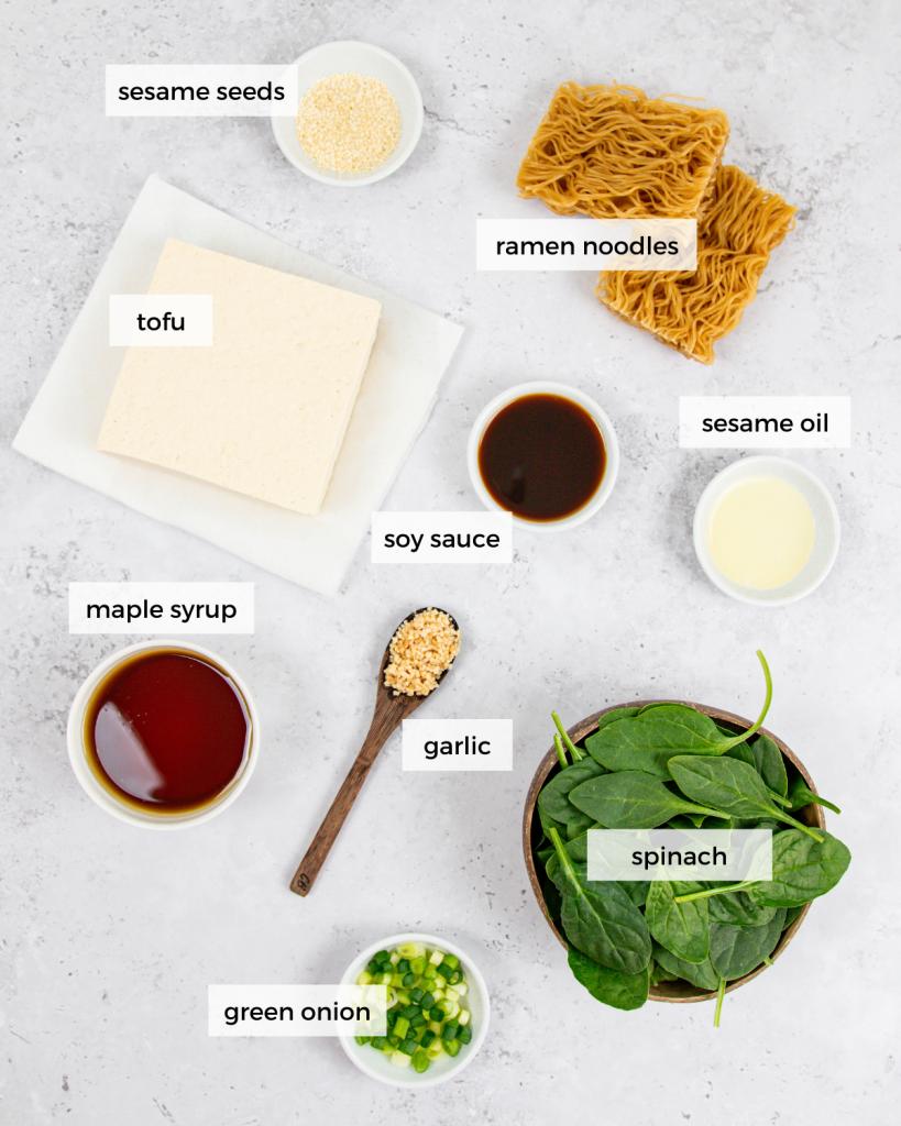 Maple Tofu Noodle Ingredients